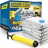 Superstarke Vakuumbeutel für Bettdecken Kleidung Matratzen 6 Stück groß 100x80cm - Vacuum Storage Bags XXL - Premium Vacuum Beutel Kleidung + Pumpe -