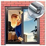 Vinilos para Ventanas Efecto Espejo,Privacidad Película Espejos Adhesivos para Ventana ,Anti 99% UV y Control de 85% Calor,Adecuada Baño, Hogar y Ofocina (40cm * 400cm)