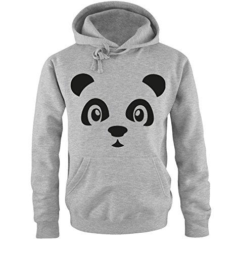 Comedy Shirts - Panda - ONHE Schleife II - Herren Hoodie - Grau/Schwarz Gr. L