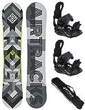 Airtracks Snowboard Set - TAVOLA CUBO Man 159 - ATTACCHI Star XL - Sacca/Nuovi