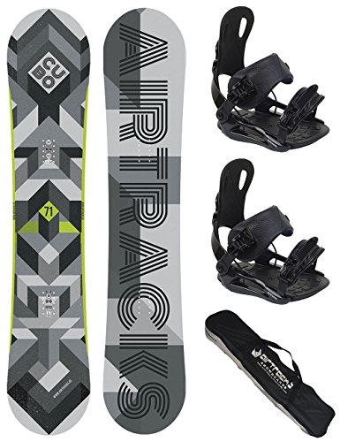 AIRTRACKS SNOWBOARD SET/CUBO MAN SNOWBOARD + BINDING STAR OF BINDING MASTER FASTEC + SB BAG /159 161 165 168 171 / cm