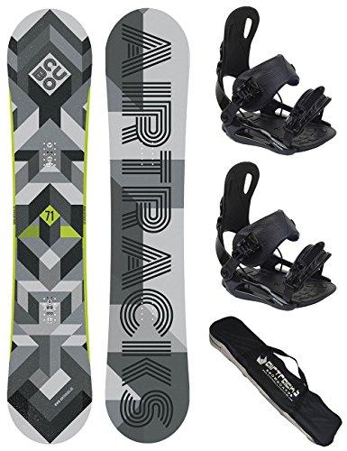 AIRTRACKS Snowboard Set (Paquete Completo) Tabla Cubo Wide + Fijaciones Star/Fijaciones Master FASTEC + SB Bag/Nuevo / 159 161 165 168 171 / cm