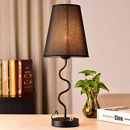 nakw88 Lámpara de Mesa Moderna Minimalista lámpara de Noche Dormitorio Caliente Decorativo lámpara Mesa Creativa Ojo Protector lámpara 20 * 52 cm (Color:Negro) (Color : Black)