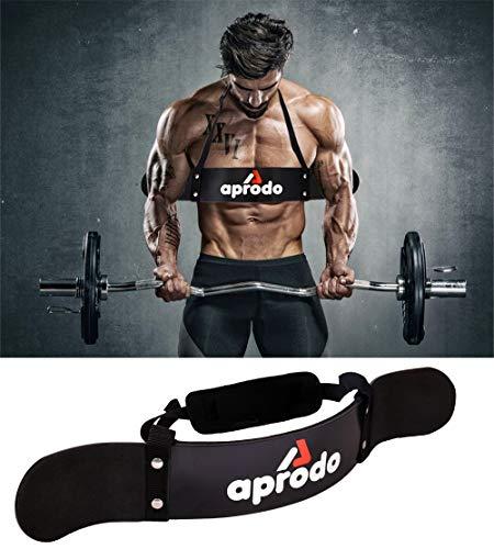 Aprodo Neoprene Padded, Heavy Duty Thick Gauge Arm Blaster, Biceps Muscle Workout for Men & Women, Black