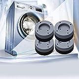 4 Stück Vibrationsdämpfer, Universal Schwingungsdämpfer, Waschmaschine Antivibrationsmatte, für Waschmaschinen Trockner Möbel Kühlschrank - 4