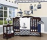 GEENNY Baby Nautical Explorer 13 Piece Nursery Crib Bedding Set