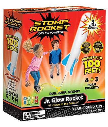 The Original Stomp Rocket Jr. Glow Rocket and Rocket Refill Pack, 7 Rockets and...