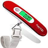 FREETOO Portable Luggage Scale Digital <span class='highlight'>Travel</span> Scale Suitcase Scales Weights with Tare Function 110 lb/ 50KG Capacity Red