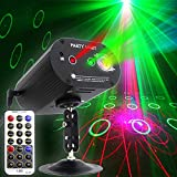 Party Lights DJ Disco Light RGB 3 Lens 36 Patterns Projector GOOLIGHT Mini LED Strobe Sound Activated Stage Lights Indoor for Birthday Parties Wedding Karaoke KTV Bar Christmas Halloween Decorations