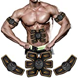 AILEDA Abs Trainer Muscle Stimulator,EMS Muscle Toner, Abdominal Toning Belt Muscle Trainer,Portable Fitness Trainer for Abdomen, Arm and Leg, with 6 Modes & 10 Levels Operation