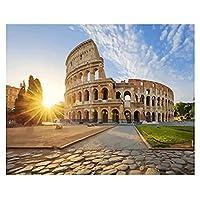 フレーム付きキャンバス上の数字の風景によるローマの写真DIYキット数字の装飾による着色を描く大人のためのアクリル絵の具