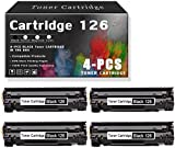 4-Pack126 Black TonerCartridgeCompatible for Canon...
