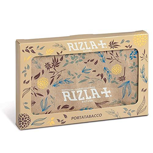 RIZLA Portatabacco con porta accendino in carta Tyvek, resistente ai liquidi, stampa Rizla Nature,...
