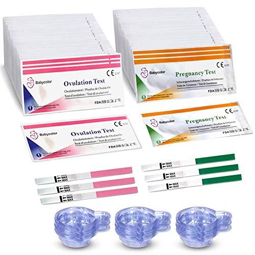 Ovulationstest 20 miu/ml, 50 Ovulationstest Streifen +20 Schwangerschaftstest, Ovulation Test, Fertilitätsmonitor Teststäbchen Fruchtbarkeit 20 miu/ml Sensitivität