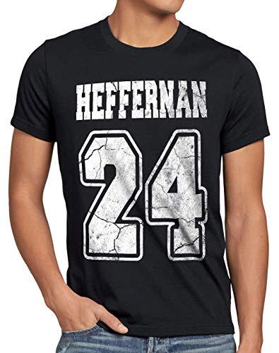 style3 Heffernan 24 T-Shirt Herren Doug Queens Sitcom, Größe:5XL, Farbe:Schwarz