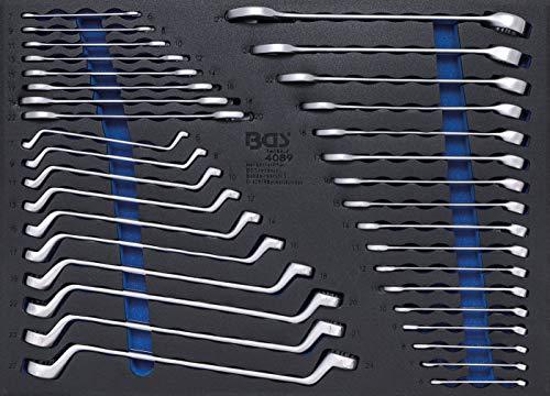 BGS 4089 | Werkstattwageneinlage 3/3: Maulschlüssel / Ringschlüssel | 35-tlg. | SW 6 -27 mm