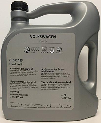 Originele Volkswagen VW Onderdelen Longlife II Motorolie (0W30)
