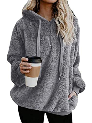Super soft, comfortable and wam - Made of high quality polyester and spandex, this women's sweatshirt, hoodie, pullover and jacket are super soft and cozy like a soft warm blanket, keeping you warm in the cold autumn and winter. Unique design - Contr...