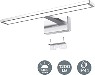 1200LM LED Espejo Baño, 15W Novostella 430 * 135 * 95mm Aplique Baño LED Lámpara Brillante de Espejo, Impermeable IP44 Luz Blanca Fría 6000K, Lámpara Moderna de Cuarto Pared, Voltaje Ancho 100-240V