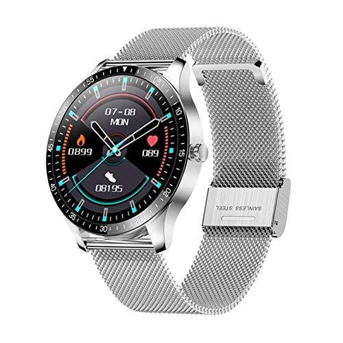 YDZ Monitor De Sueño con Ritmo Cardíaco S80 IP68 Hombres Inteligentes Impermeables Hombres Fitness Fitness Ejercicio 2021 Smartwatch para iOS Android,H