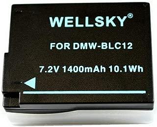 [WELLSKY] Panasonic パナソニック DMW-BLC12 / シグマ BP-51 互換バッテリー [ 純正充電器で充電可能 残量表示可能純正品と同じよう使用可能 ] LUMIX ルミックス DMC-GH2 / DMC-G6 / DMC-G7 / DMC-G5 / DMC-G8 / DC-G99 / DMC-FZ200 / DMW-FZ300 / DMC-FZ1000 / DMC-GX8 / DMC-FZH1 / DC-FZ1000M2 / DC-FZ1000 II