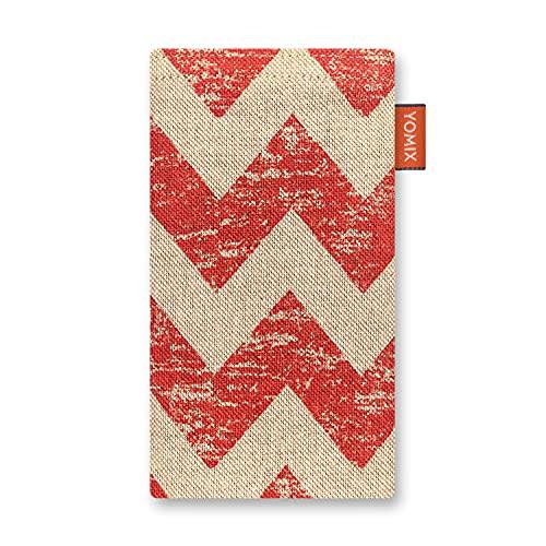 YOMIX Lilly mit Strahlenschutz Handytasche Tasche für Asus ZenFone 2 Deluxe aus Canvas mit Microfaserinnenfutter | Hülle mit Reinigungsfunktion | Made in Germany