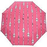 Auto Open Close Umbrella Arrow Clip Art Set Sombrillas de Viaje Plegables compactas a Prueba de Viento