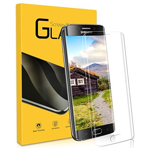 Panzerglas Schutzfolie für Samsung Galaxy S6 Edge,[1 Stück],3D Vollständige Abdeckung,9H Härte,0.33mmHD Klar Displayschutzfolie/Anti-Kratze/Einfacher Montage/Blasenfrei für Samsung S6 Edge-Transparent