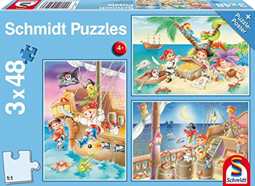 Schmidt Schmidt Gang of Pirates Jigsaw Puzzle (3x48 Piezas)