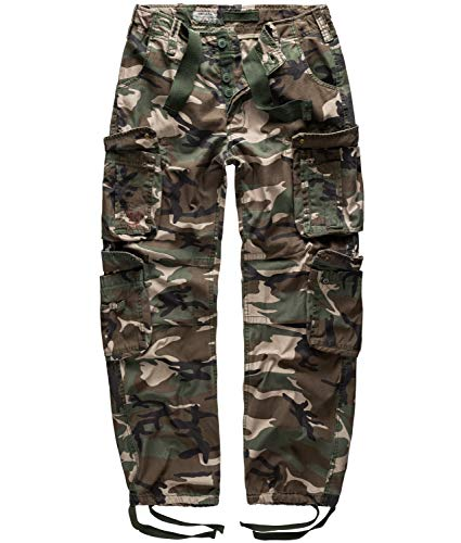 Surplus Airborne Vintage Trousers, Woodland, L