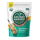 Contains one 23 oz ounce pouch of Tricolor gluten free organic quinoa Each serving contains 6g of vegan protein All three varieties of quinoa together into one tri-color combo. Substitute our quinoa for your breakfast oatmeal, use it to create delici...
