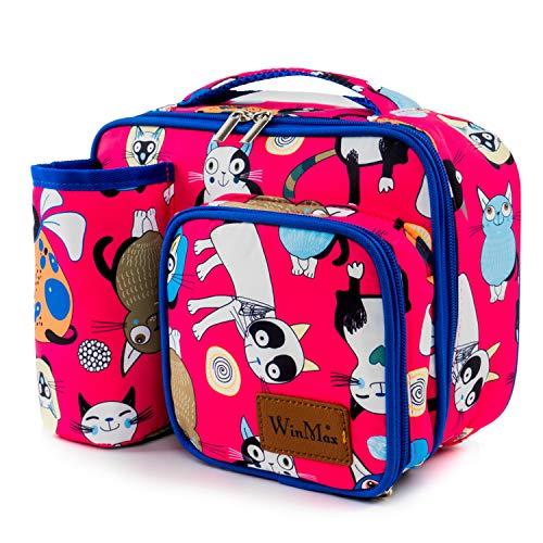 Sacs Isothermes Repas pour Enfant et Femme, Sac Lunch Box Isotherme Sac à Lunch Bag Sac de Repas Pique Nique Sac Isotherme Dejeuner pour Travail Ecole Pique-Nique Grande capacité (Rouge)