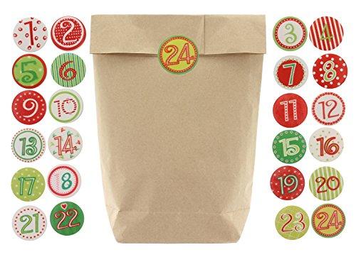MIK Funshopping 25/50/100/200 kraftpapieren zakken met kruisbodem 17 x 27 cm om te knutselen en te vullen, ideaal als kerstcadeauzakjes, cadeautjes, doe-het-zelf adventskalender