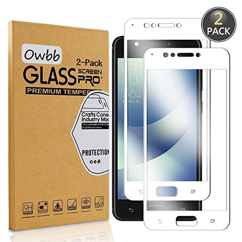 Owbb 2 Stück Weiß Gehärtetes Glas Bildschirm schutzfolie Für Asus ZenFone 4 Max ZC520KL (5.2 zoll) Full Coverage Schutz 99prozent High Transparent Explosionsgeschützter Film