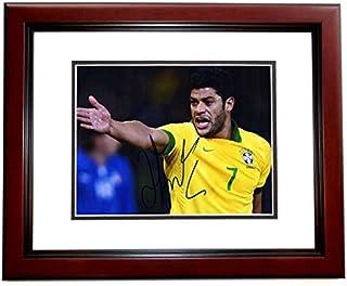 Hulk Signed - Autographed Shanghai SIPG FC - Brazil National Team Futbol - Soccer 8x10 inch Photo - MAHOGANY CUSTOM FRAME - Hulk Givanildo Vieira de Sousa