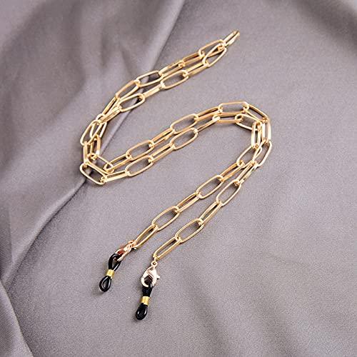 MIKUAX Collar Gafas de Sol Cadenas de enmascaramiento para Mujer Cadenas de Gafas de Cristal de Perlas acrílicas Creativas Nuevos Accesorios de joyería de Moda
