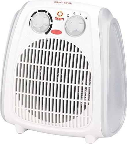 Omen Fan Heater Heat Blow 108||Silent Fan Room Heater (White)||with 1 Season Warranty||2 Heat Settings