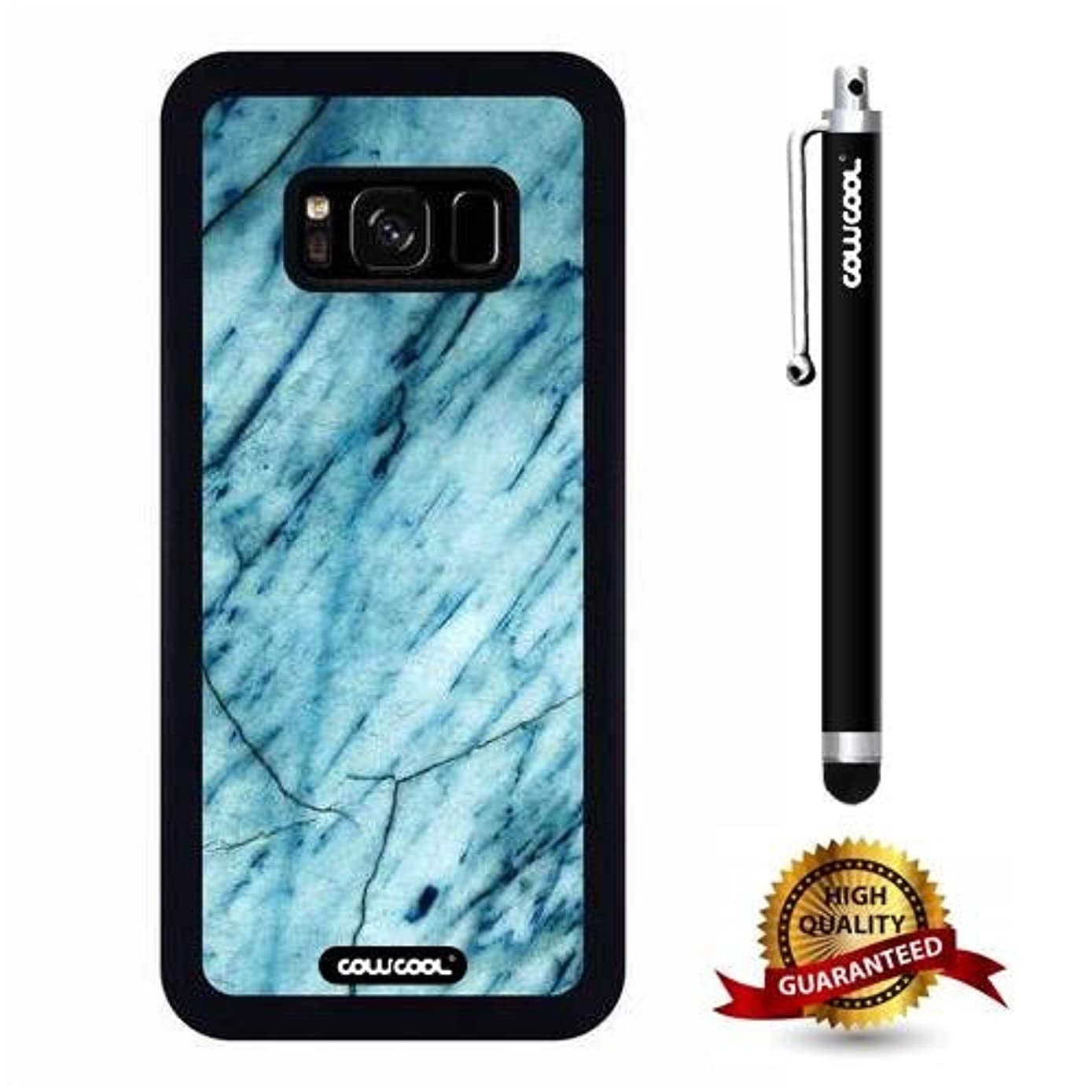 Galaxy S8 Case, Marble Pattern Case, Cowcool Ultra Thin Soft Silicone Case for Samsung Galaxy S8 - Slash Grid Marble Texture
