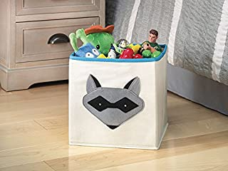 Whitmor Kids Canvas Collapsible Cube-Raccoon