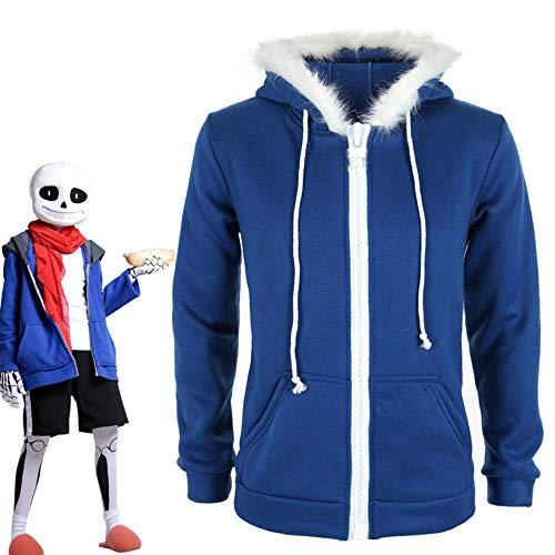 CHANGL Sans Undertale Cosplay Kostüm Hoodies Jacke ohne Plus Samt Kapuze Reißverschluss Pullover Animationsspiel Outfit