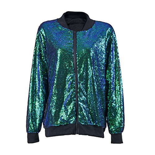 BFD Damen Collegejacke Jacke Gr. 36, Green Sequin