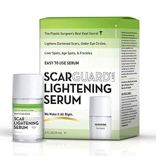 Scarguard Lightening Serum | Skin Brightening Formula for Darkened Scars, Age Spots, Under-Eye Circles, Freckles & Hyper-Pigmentation | 0.5 fl oz