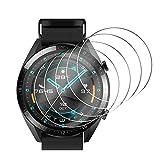 Hianjoo Panzerglas Schutzfolie Kompatibel mit Huawei Watch GT 2 46mm, 9H Festigkeit, Anti-Kratzen, Anti-Öl Glasschutzfolie Kompatibel für Huawei Watch GT 2 46mm [5 Stück]