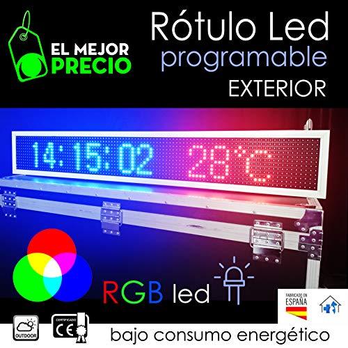 Rótulo electrónico led Programable para' EXTERIOR' WIFI con App (RGB) FULL COLOR, letreros led programables, carteles de led, rótulos electrónicos.