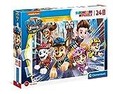 Clementoni Supercolor Paw Patrol The movie-24 Maxi Piezas-Made in Italy niños 3 años, Puzzle Carton, Multicolor (24222)