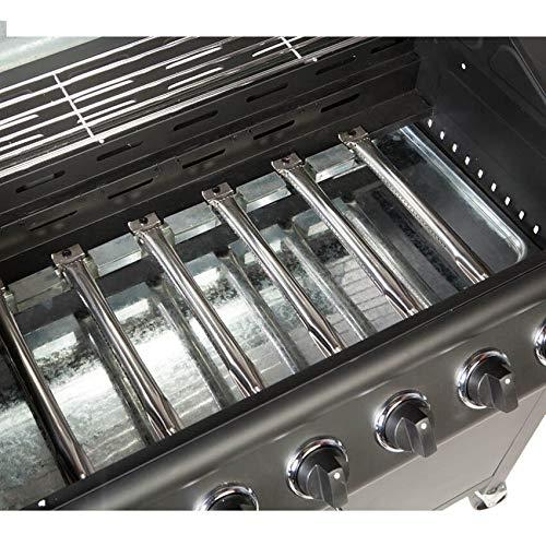 CosmoGrill Barbecue 6+1 Pro Gas Grill BBQ (Black)