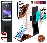 Hülle für HTC Desire 650 Tasche Cover Case Bumper | Braun