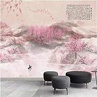 Iusasdz カスタム大型壁画壁紙中国の手描きの桃の花の壁の布の寝室防水環境にやさしい3D-400X280Cm