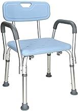 Douche- en badkrukken Douchestoel met rugleuning en armleuning Antislip in hoogte verstelbaar Perfect voor ouderen Kan 136...