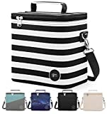 Simple Modern Insulated Adult Lunch Bag Tote Reusable Meal Container for Women, Men, Work, 4L Blakely, Stripes: Tuxedo